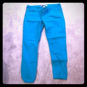 Denim - 💙👖💙TEAL STUDDED POCKET PANTS💙👖💙
